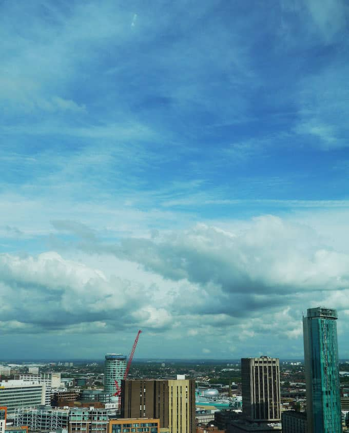View from The Cube Birmingham