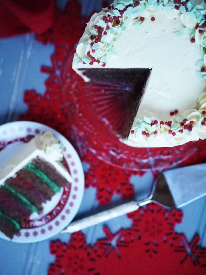 Festive Chocolate Layer Cake