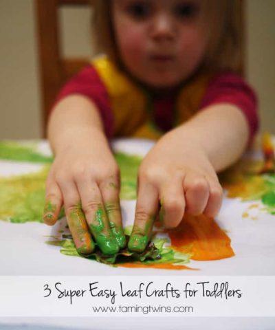 Toddler Autumn Leaf Crafts