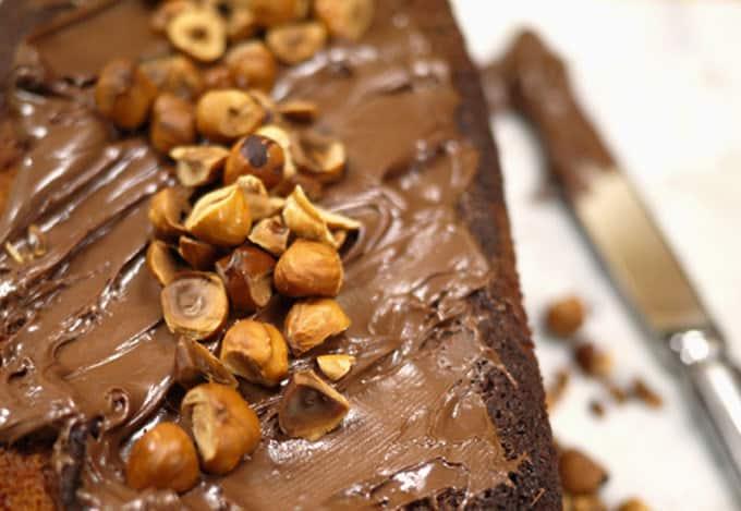 Nutella Swirl Loaf Cake Recipe