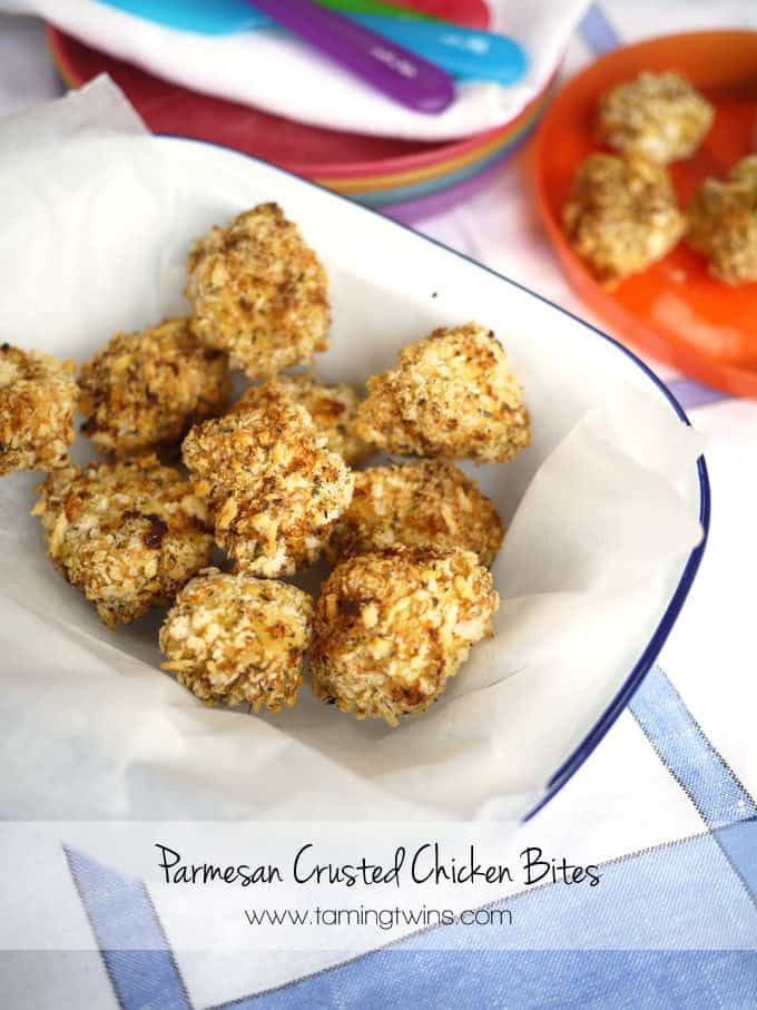 Parmesan Crusted Chicken Bites