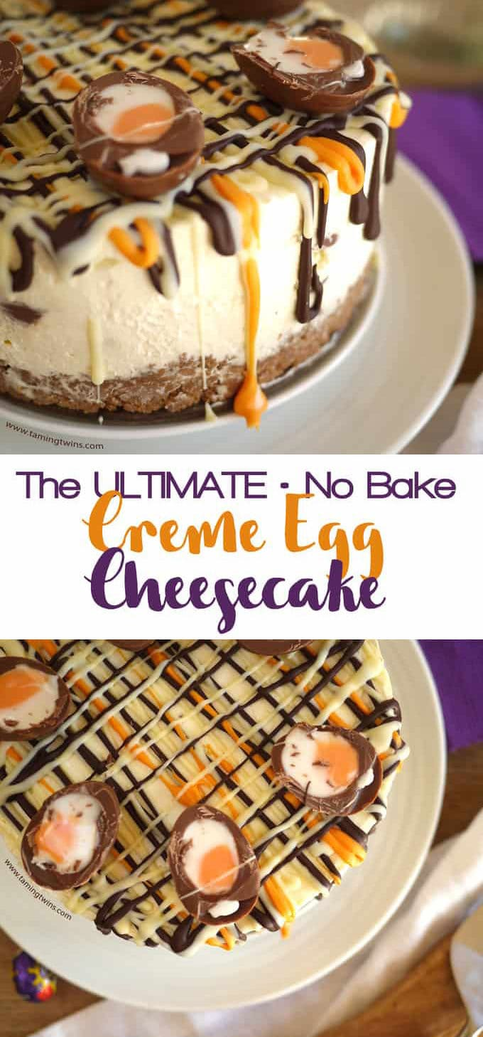 This Cadbury's Creme Egg Cheesecake Recipe (No Bake!) has been viewed over a million times. The ultimate Easter chocolate make, find out what all the fuss is about... This supereasy dessert is a buttery biscuit base, topped with light, whipped cream and cream cheese, with chocolate and Creme Eggs. Easily adaptable to be Gluten Free.