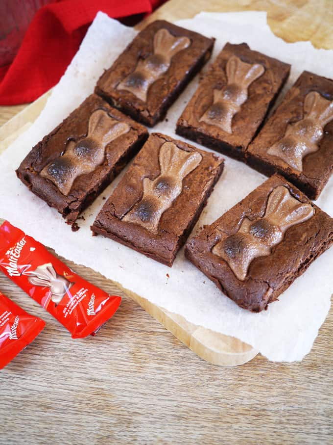 Malteaser Easter Brownies