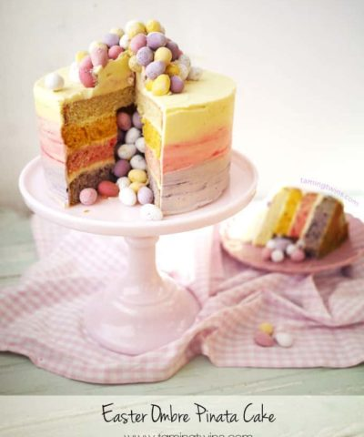 Mini Egg Ombre Pinata Layer Cake