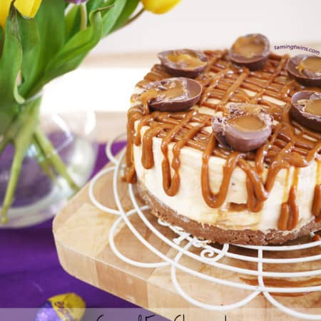 Caramel Cheesecake with Cadburys Caramel Eggs