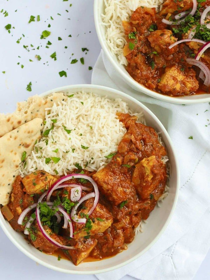 Easy chicken curry recipe with rice