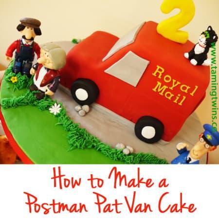 How to Make a Postman Pat Van Cake
