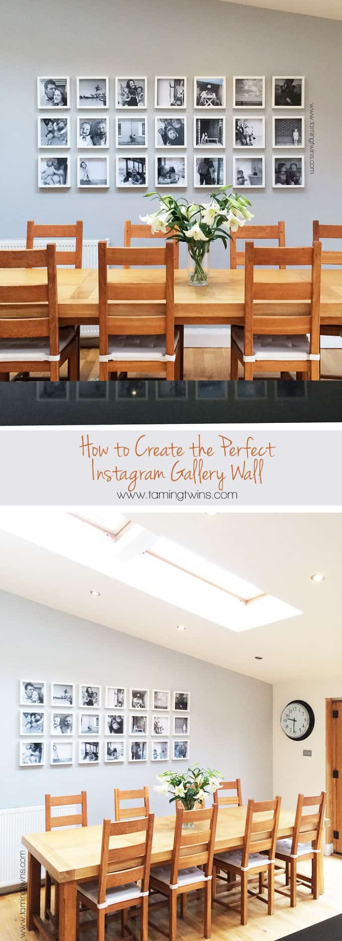 How to create the perfect Instagram gallery wall (using Ikea frames!) Tips and tricks for getting the perfect finish. | TamingTwins.com https://www.tamingtwins.com
