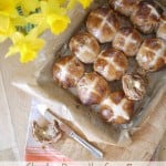 Chocolate Orange Hot Cross Buns - A delicious teatime treat for Easter, a twist on the original and a really fun bake over the spring holiday period. | http://www.TamingTwins.com