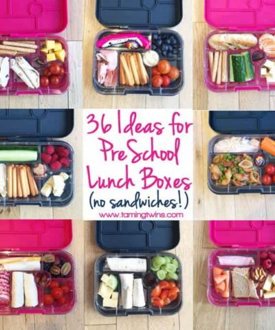 Lunchbox Ideas for PreSchoolers - with no boring sanwiches! Inspiration for more interesting pack ups for kids | https://www.tamingtwins.com