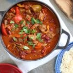 This easy Chilli Con Carne recipe (or Chili Con Carne, if you're in the USA) is perfect for family dinners, not too spicy and easy to slow cook ready for later. Made with beef steaks (rather than mince) for a better texture, packed with extra vegetables, makes a brilliant freezer filler. https://www.tamingtwins.com