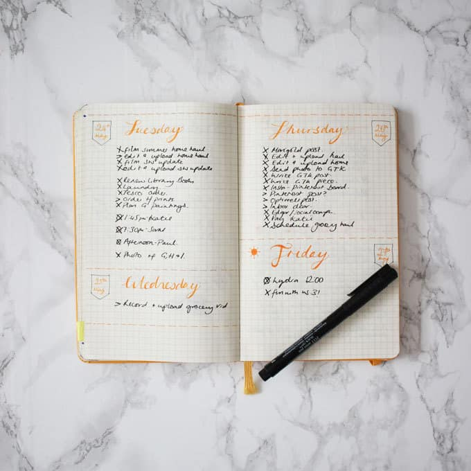 My Bullet Journal Review, peek inside my Bullet Journal for the last few months, my daily spreads, weekly spreads, my journaling and to do lists. What's worked and what hasn't. https://www.tamingtwins.com