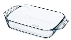 Pyrex glass roaster