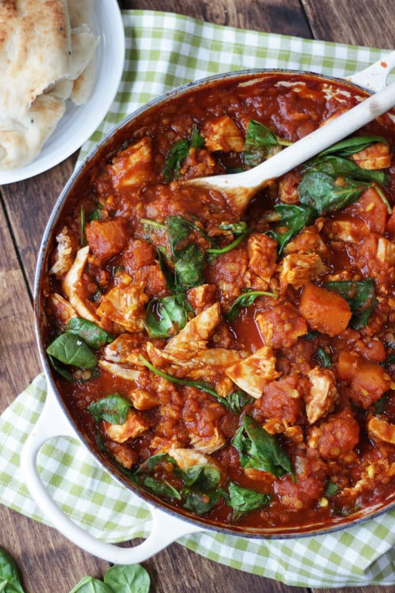 Leftover Turkey Curry Recipe - The perfect post Christmas dish, easy, quick, deliciously tasty. This wholesome turkey curry has added lentils, butternut squash and spinach for a dose of extra veg. It uses the cold, cooked turkey from your roast for a really special curry. #tamingtwins #turkey #turkeyrecipe #turkeycurry #curryrecipe #christmasrecipe #turkeycurryrecipe #butternutsquash #leftovers