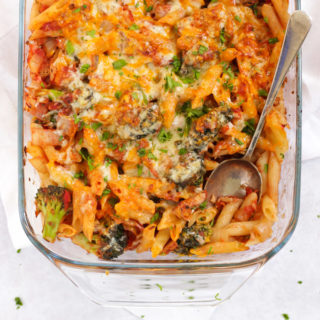 Healthy Tuna Pasta Bake Recipe with Cheesy Topping