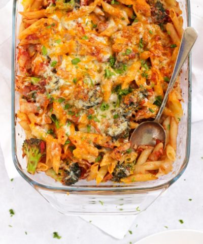 Tomato tuna pasta bake sun free on slimming world