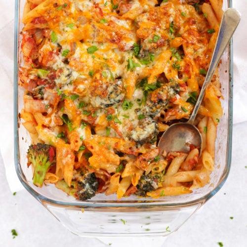 Tomato tuna pasta bake sun free on slimming world