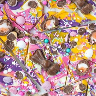 Chocolate Easter Bark with Candy & Malteaster Bunnies