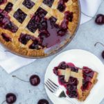 Cinnamon Cherry Pie Lattice Recipe - Made with delicious, juicy, fresh cherries. The perfect summer time dessert.