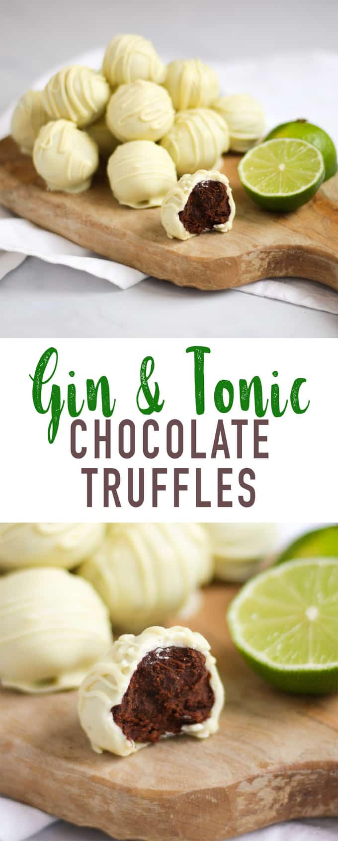 Gin and Tonic Truffles - the perfect homemade Christmas gift. Ideal for a gin or chocolate lover in your life! #ChristmasFood