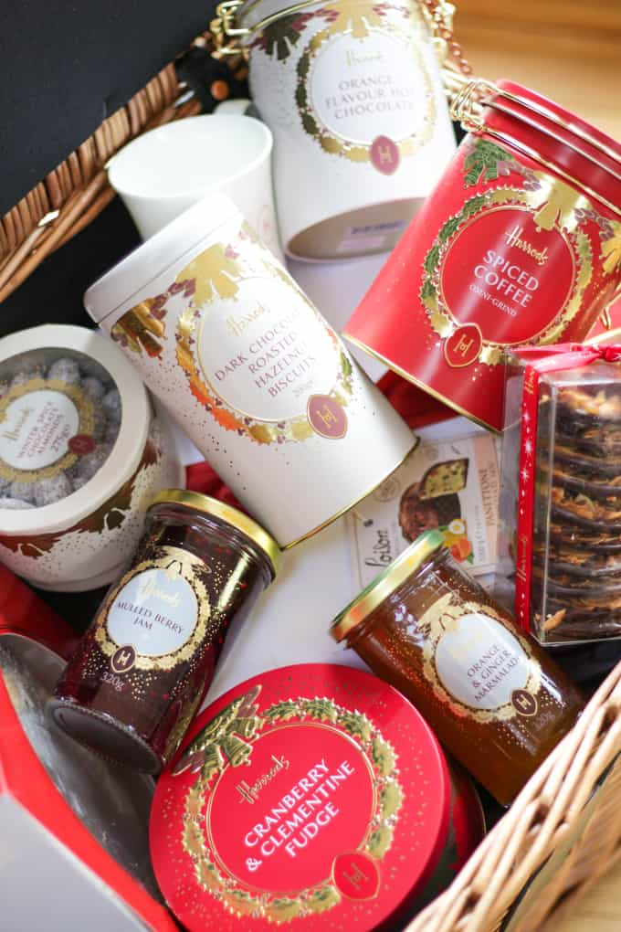 The beautiful St James Harrods Hamper - The perfect Christmas festive celebration foodie gift!