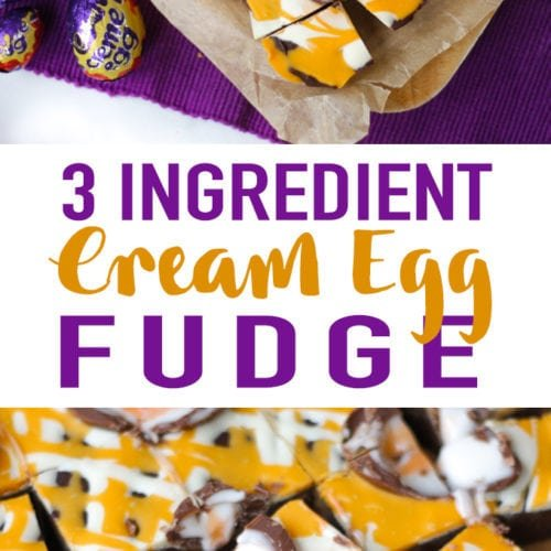 Learn how to make Creme Egg fudge with this super simple and easy recipe. This slow cooker fudge recipe uses your crock potfor simple anddelicious fudge every time. Just 3 ingredients! No boiling of sugar, it uses condensed milk and chocolate instead. Such a delicious treat as an Easter sweet or dessert.
