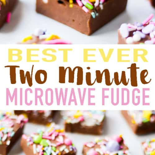 This Microwave Fudge recipe uses just two ingredients - chocolate and condensed milk. It works every time and is made in just two minutes. Add your own flavourings and toppings for truly delicious fudge.