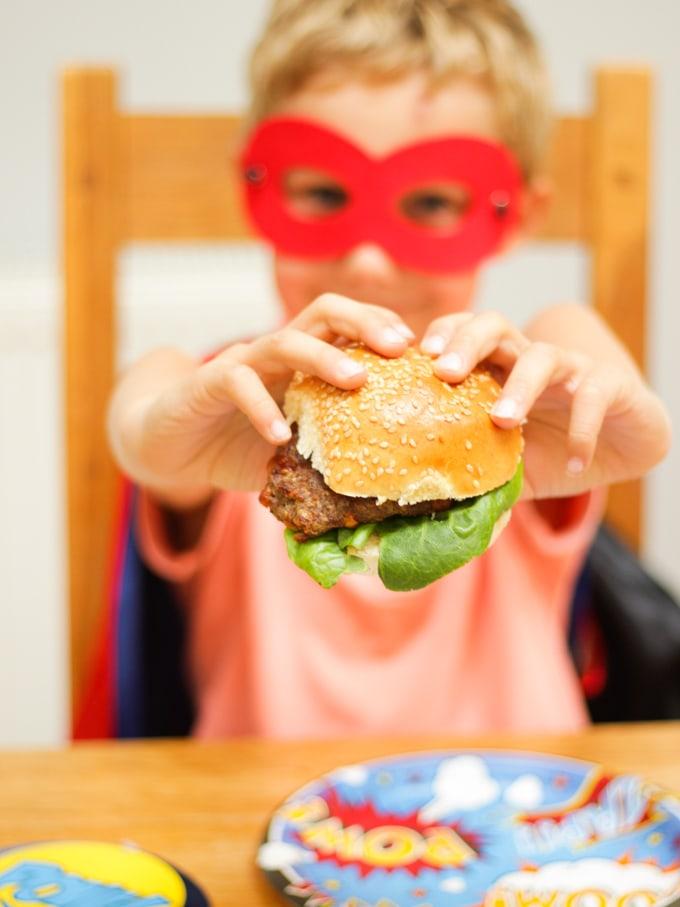 DC Comics Burgers and Sausages including Batman Burgers