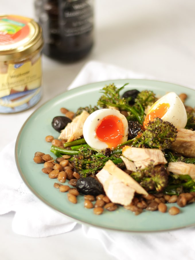 This healthy Tuna Salad recipe with Tenderstem Broccoli and Soft Boiled Eggs makes the perfect summer lunch. Super simple, ready in just 20 minutes with only 6 ingredients. from Waitrose.