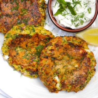 Easy Courgette Fritters Recipe – Oven Baked with Feta Cheese