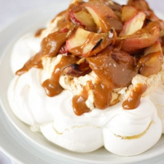 Salted Caramel & Apple Autumn Pavlova