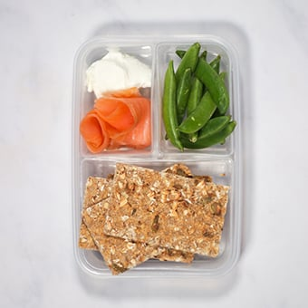Ryvita and smoked salmon healthy lunch idea for work