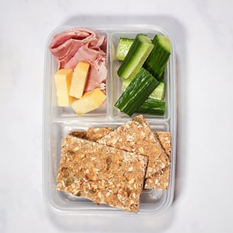 ryvita and ham healthy lunch idea for work
