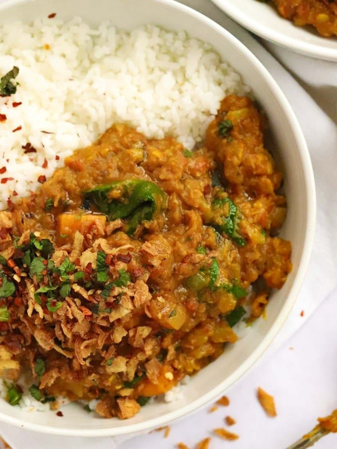 Quick and tasty Dahl recipe with red lentils