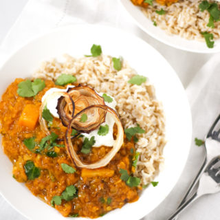 Dahl Recipe – Easy, Creamy Red Lentil & Butternut Squash Dhal