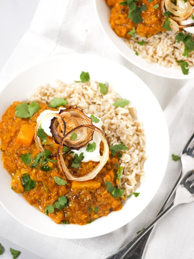 Dhal Recipe Easy Creamy Red Lentil Butternut Squash Dahl