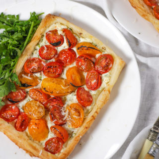 Puff Pastry Tart – with Cheese and Tomatoes