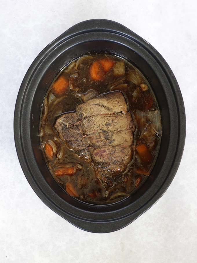 Meat joint pot roast.