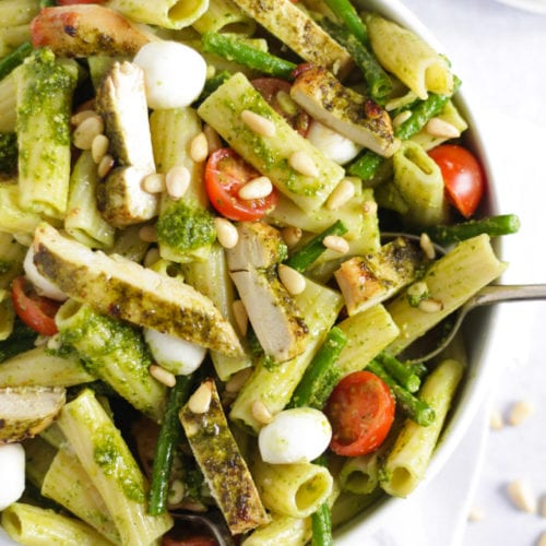Chicken Pesto Pasta Creamy Healthy Delicious