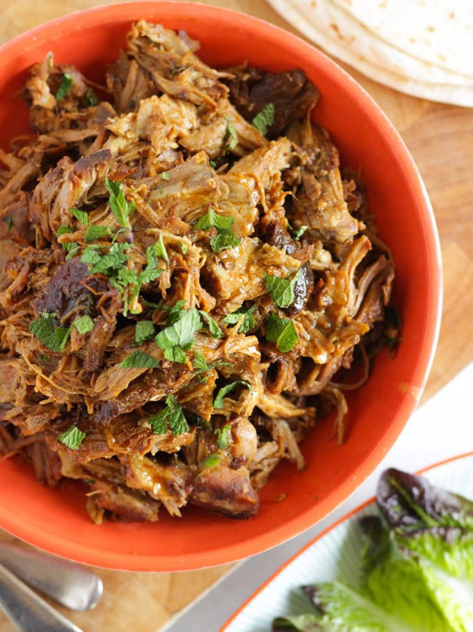 Moist & juicy crock pot pulled pork.