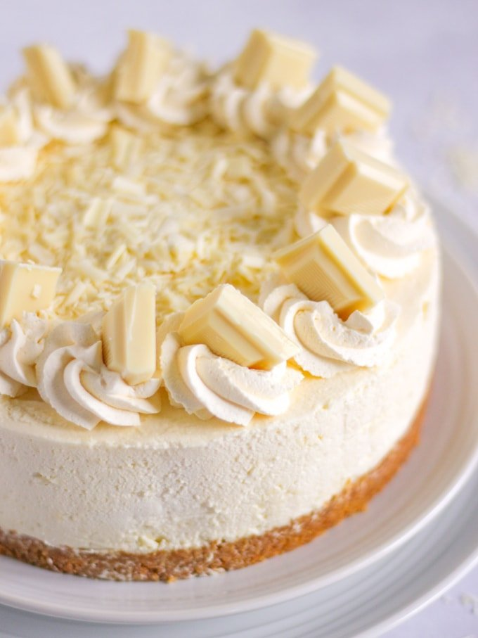 White Chocolate Cheesecake A No Bake Easy Recipe