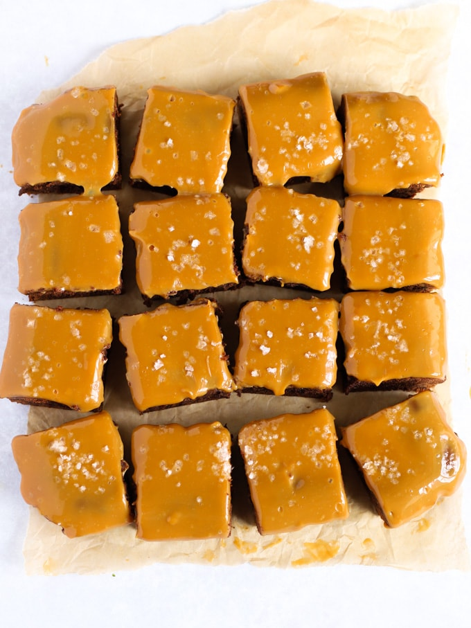 Easy to make Salted Caramel Brownies