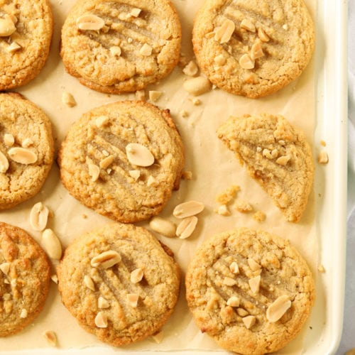 Peanut butter cookies made with just three ingredients
