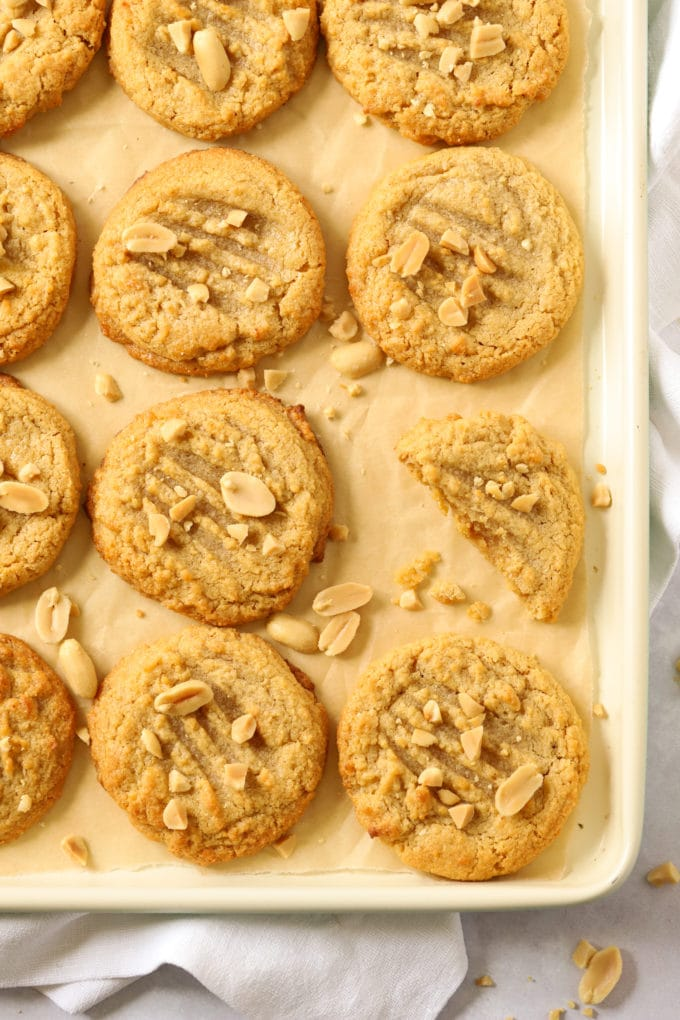 peanut butter cookies with nut sprinkles