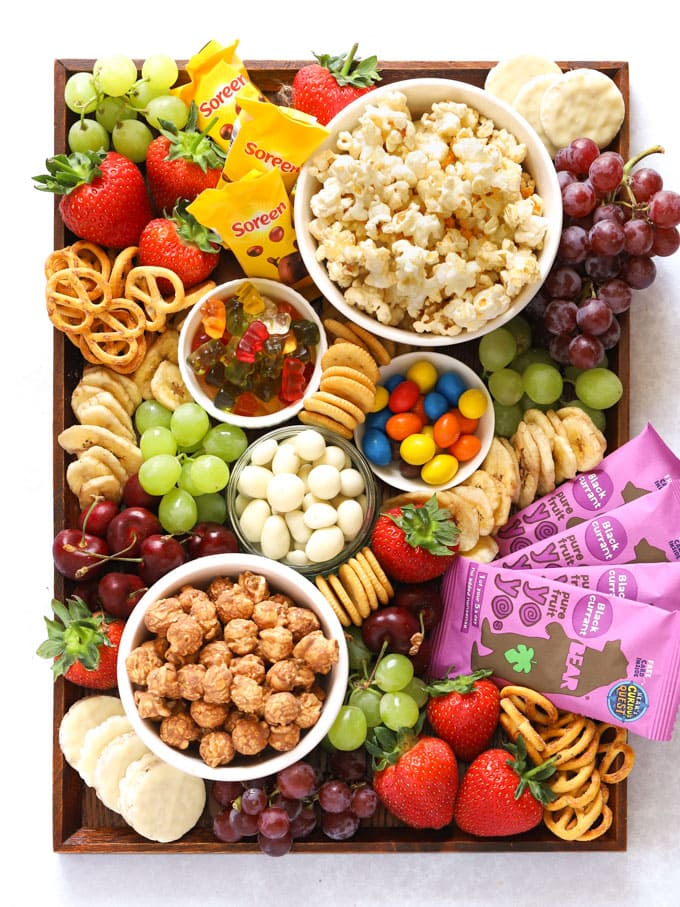 Popcorn Movie Snacks platter for kids