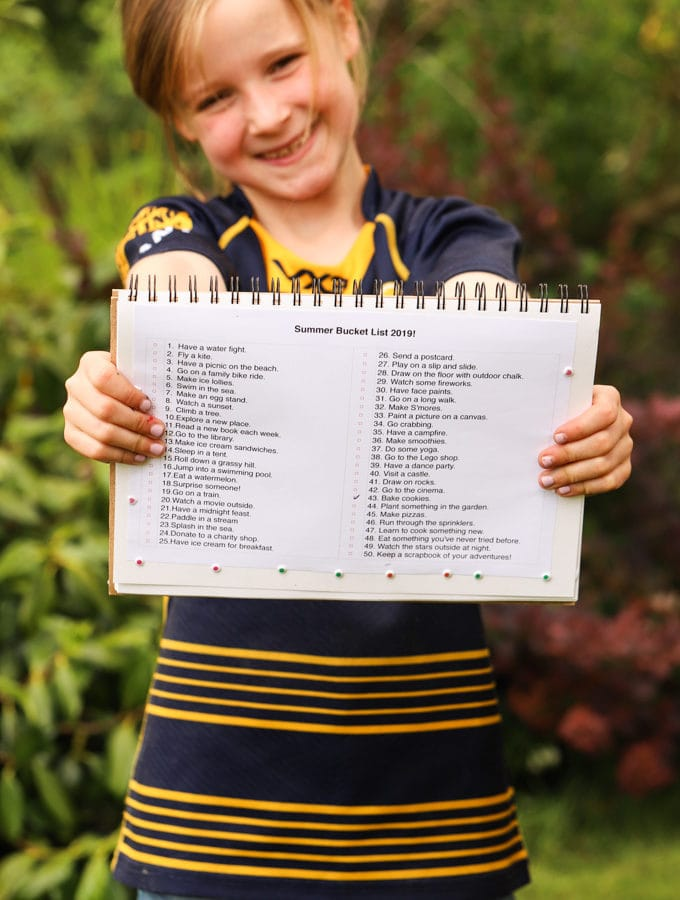 Kids summer bucket list - activities for the school holiday sunny season