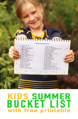 Kids summer activities - a school holiday bucket list