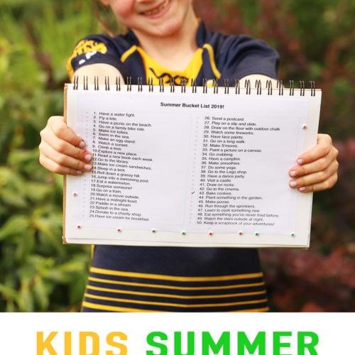 Kids summer activities - a school holiday bucket list