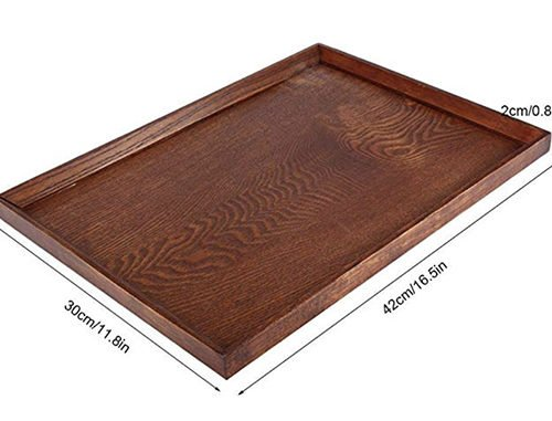 Wooden tray for making snack boards