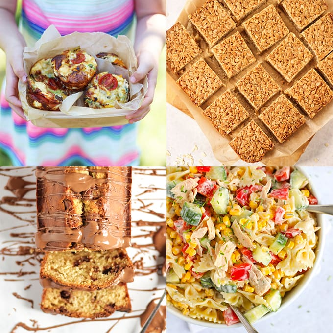 A selection of picnic ideas for kids with no sandwiches.